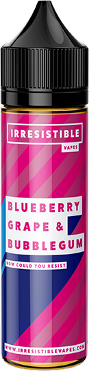 IRRESISTIBLE VAPES - Blueberry-grape-bubblegum