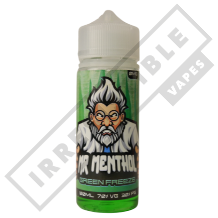 Mr Menthol 100ml Bottles - Green-freeze
