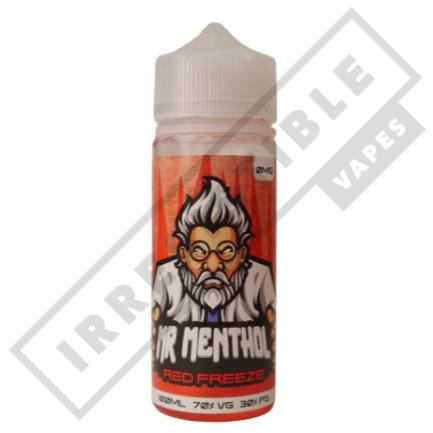 Mr Menthol 100ml Bottles - Red-freeze
