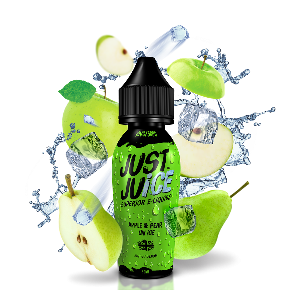 Just Juice 50ml Shortfill - Apple-pear-on-ice