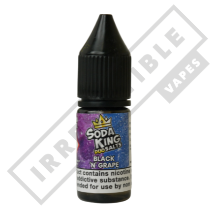 Soda king duo Nicotine salts £3.99 each or 3 for £10 (with discount code 3for10) - Black-n-grape